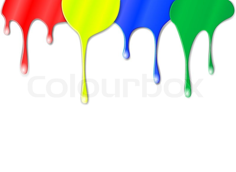 800x582 Vector Drips Of Color Paint Stock Vector Colourbox