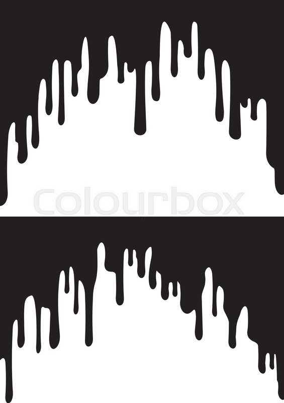 565x800 Black Paint Drips. Vector Illustration For Your Design. Stock
