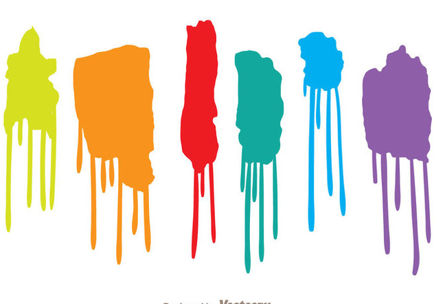 632x443 Colorful Paint Drip Set Free Vector Download 330549 Cannypic