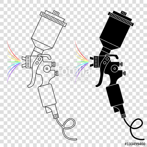 Paint Gun Vector At Getdrawings Com Free For Personal Use