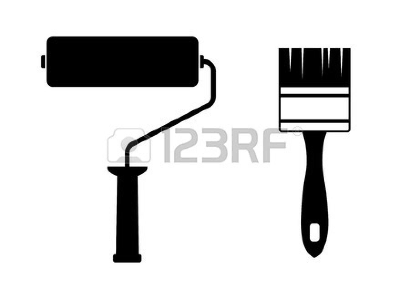 1350x954 Images Of Paint Roller Vector