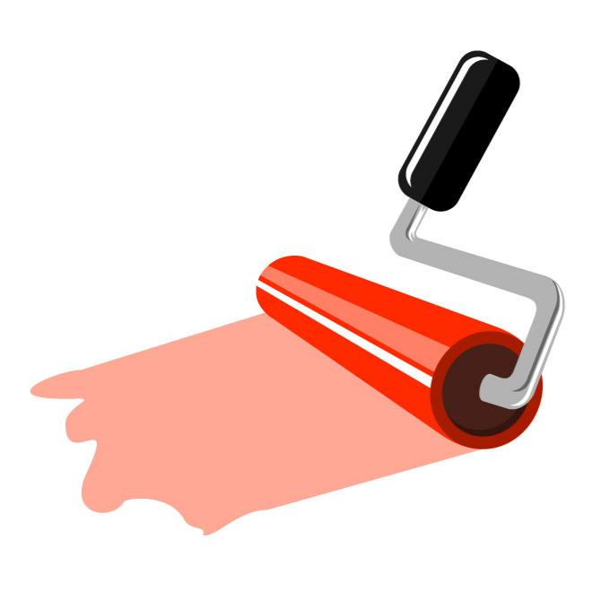 660x660 Paint Roller Vector Graphics