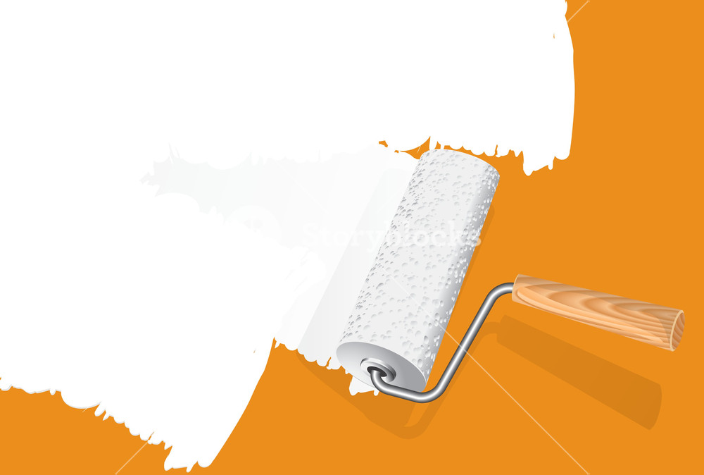 1000x674 Paint Rollers. Vector. Royalty Free Stock Image