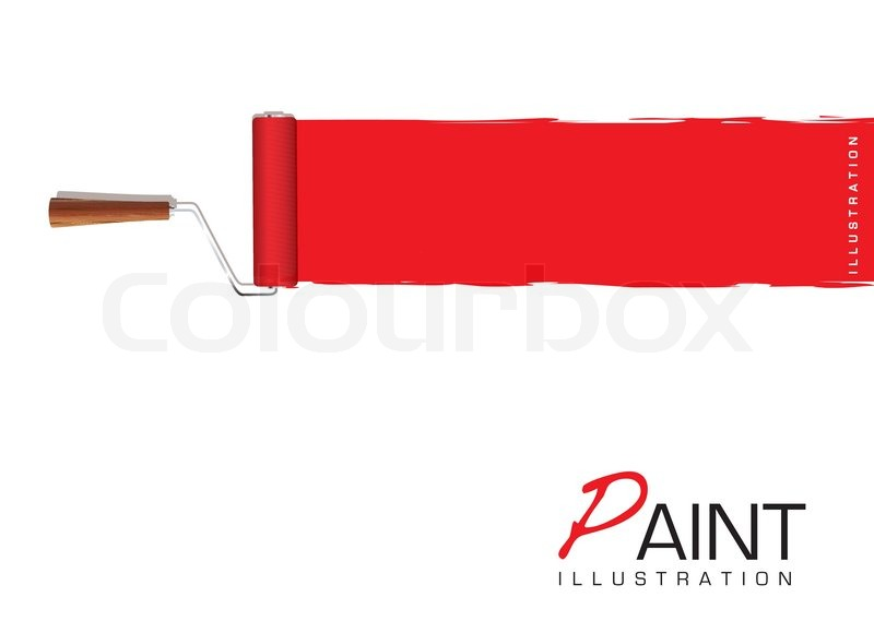 800x569 Paint Roller Banner Stock Vector Colourbox