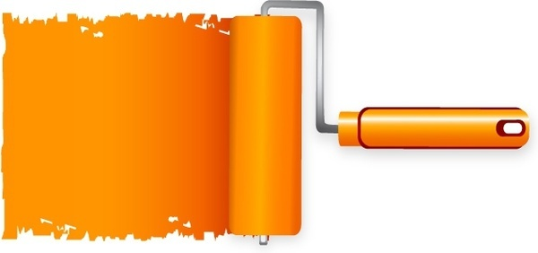 600x282 Paint Roller Free Vector Download (5,583 Free Vector) For