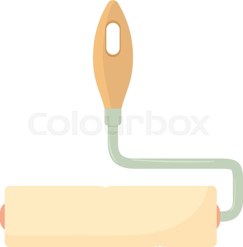 789x800 Paint Roller Icon. Cartoon Illustration Of Paint Roller Vector