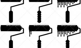 280x168 Paint Roller Vector Item 2 Clipart Panda