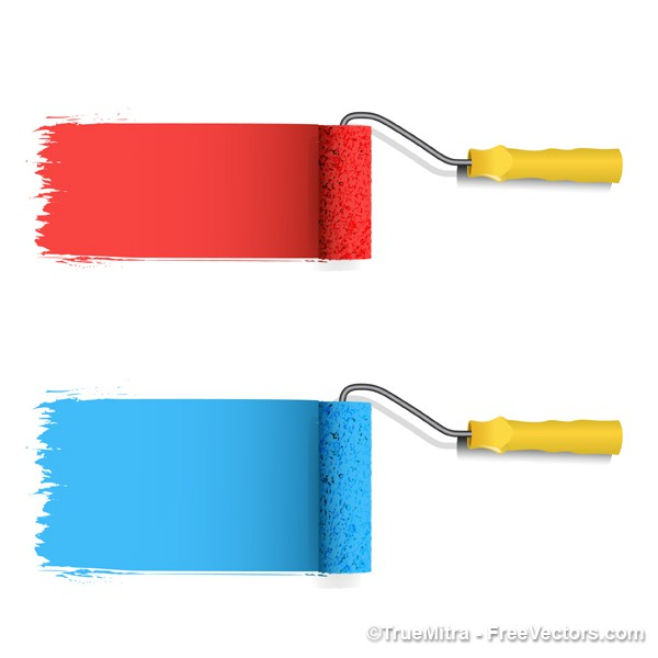 600x600 Download Free Paint Roller Vector Illustration