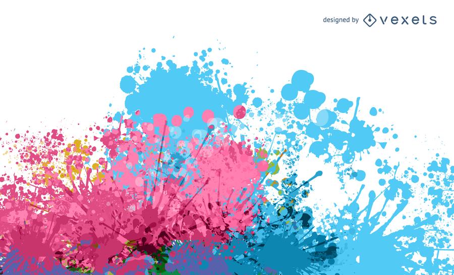 900x545 Colorful Paint Splat Vector