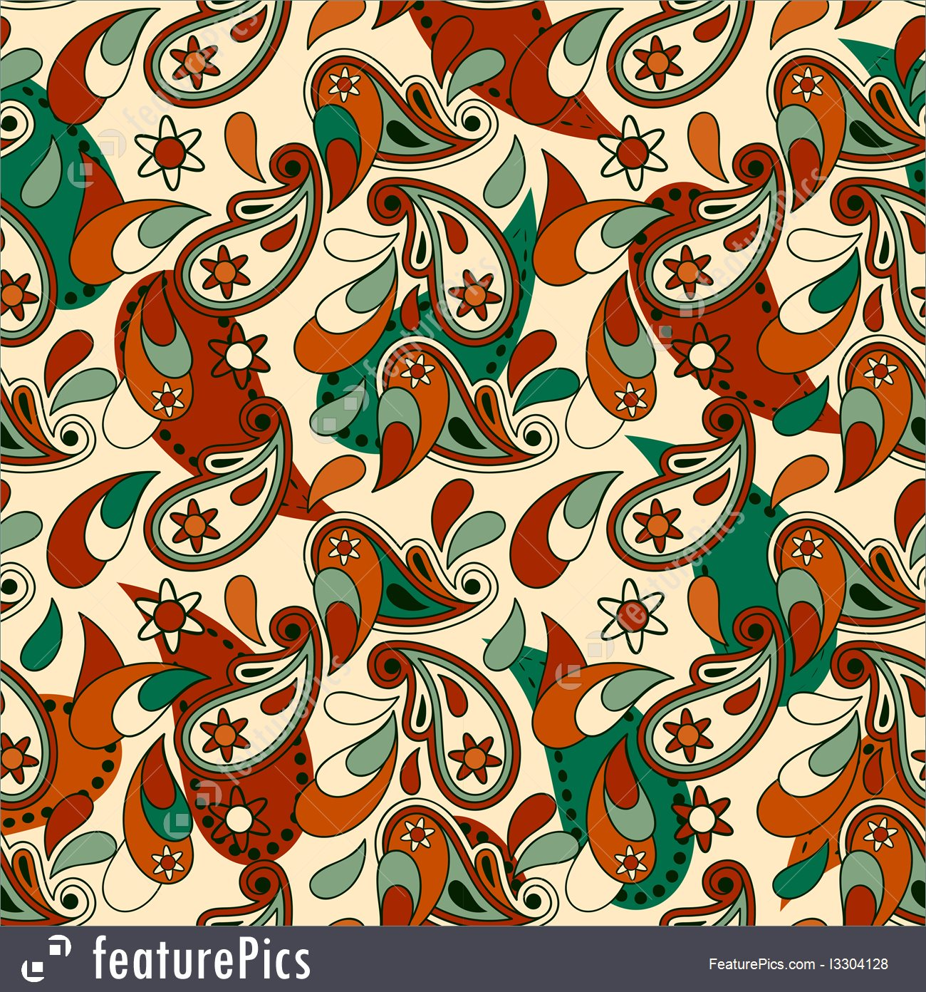 Paisley Pattern Vector at GetDrawings com | Free for