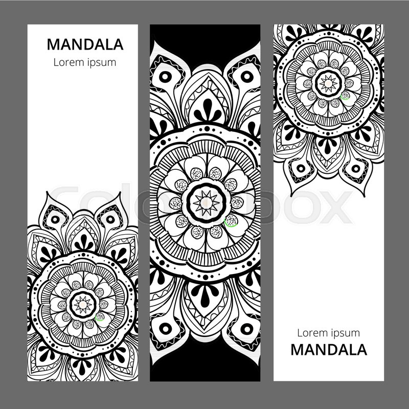 800x800 Indian Floral Paisley Medallion Banners. Ethnic Mandala Ornament