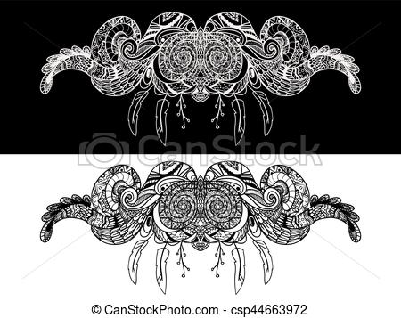 450x357 Ornamental Paisley Pattern, Decoration Floral Ornament, Boho