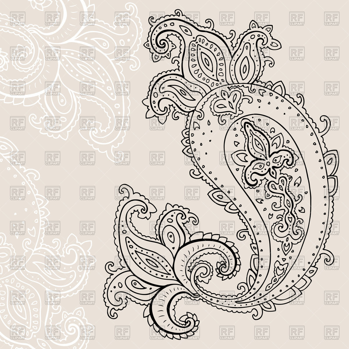 1200x1200 Paisley Ornament Vector Image Vector Artwork Of Backgrounds