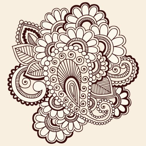 500x500 Paisley Vector And Paisley Vector Illustration 03 442x442