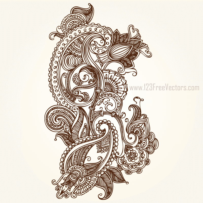 Paisley Vector Free Download