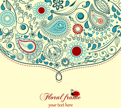 412x368 Free Floral And Paisley Vector Graphics Free Vector Download