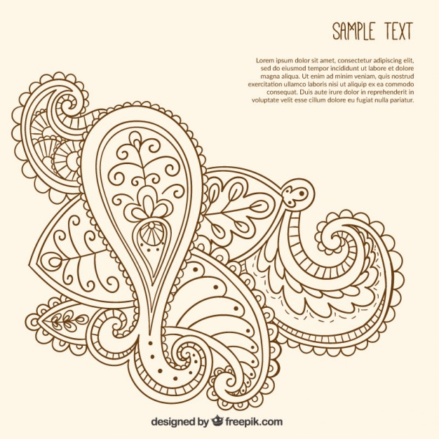 626x626 Hand Drawn Ornamental Paisley Template Vector Free Download