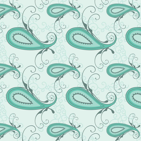 600x600 Paisley Seamless Pattern Vector Free 123freevectors