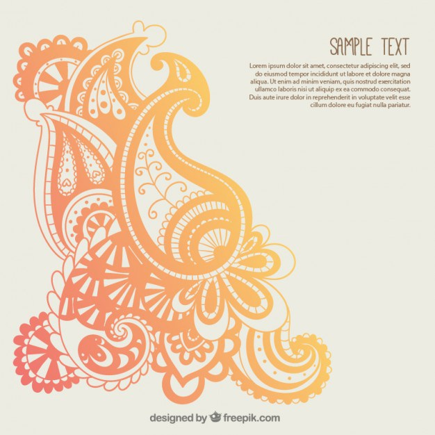 626x626 Paisley Template. Vintage Paisley Stencil Template Indian Stencil