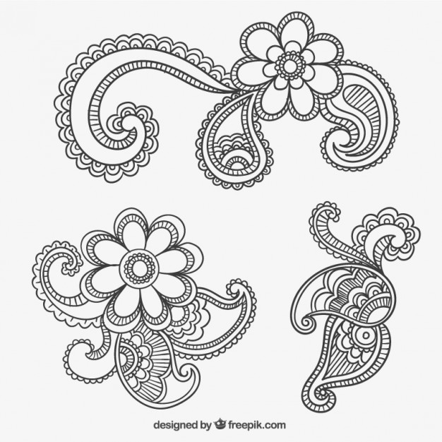 626x626 Paisley Ornaments Vector Free Vector Download In .ai, .eps, .svg