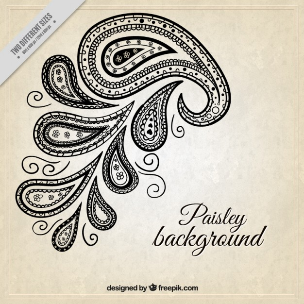 626x626 Simple Background With Paisley Detail Vector Free Download