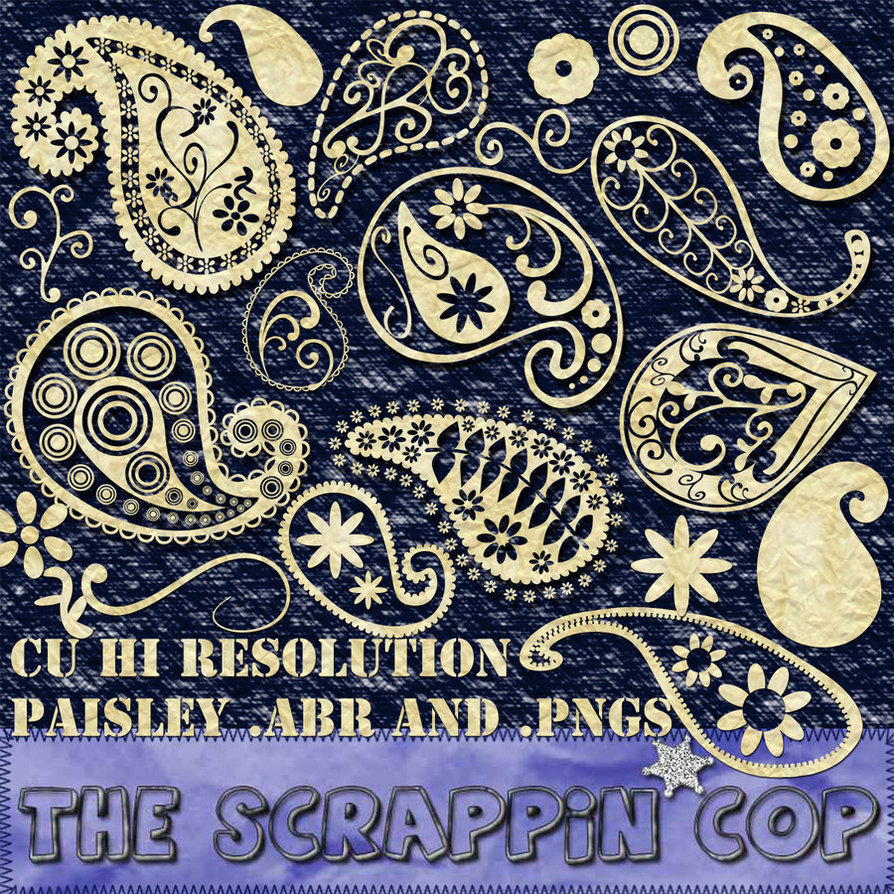 894x894 Free Paisley Pattern Photoshop Brush Vector Downloaded Free