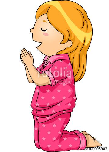 359x500 Kid Girl Pray Pajama Stock Image And Royalty Free Vector Files On