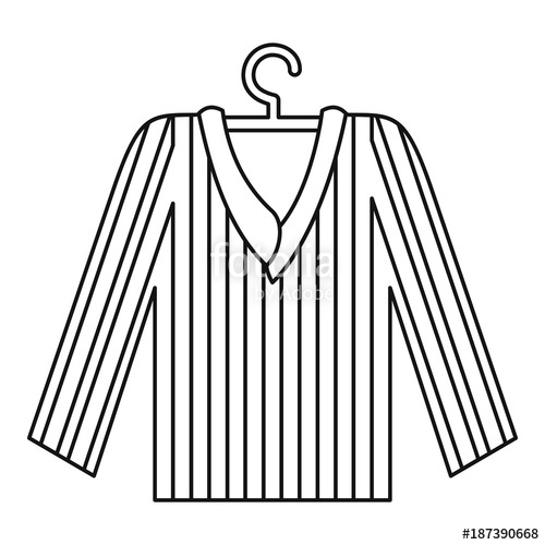 500x500 Pajama Shirt Icon, Outline Style Stock Image And Royalty Free