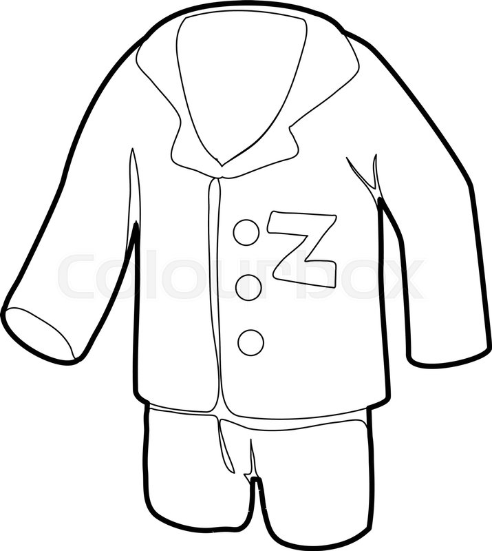 715x800 Pajamas Icon. Outline Illustration Of Pajamas Vector Icon For Web