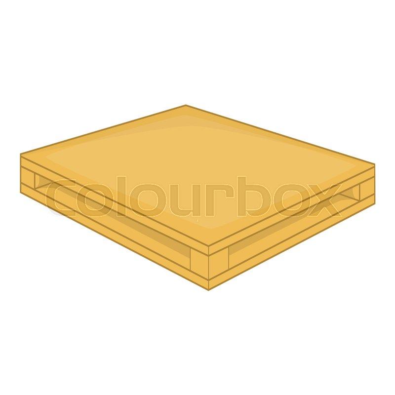 800x800 Wooden Pallet Icon. Cartoon Illustration Of Wooden Pallet Vector