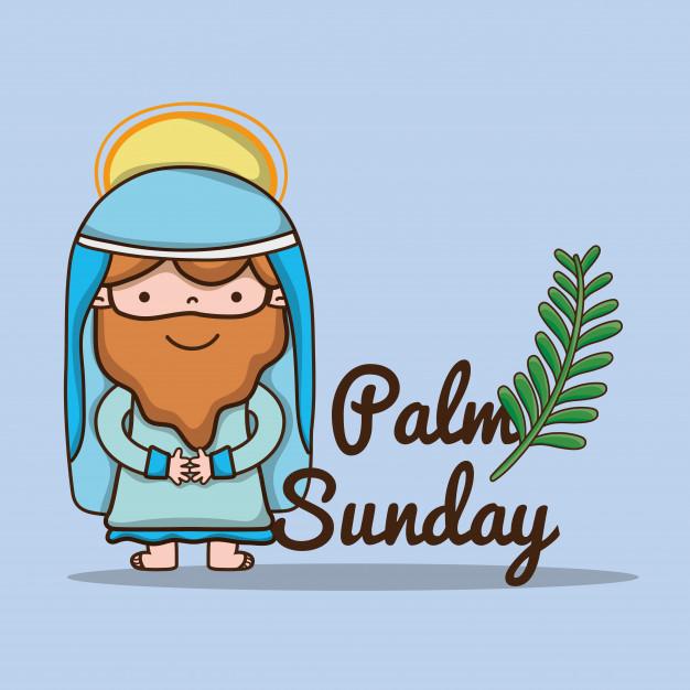 626x626 Jesus With Palm Branch To Catholic Religion Vector Premium Download