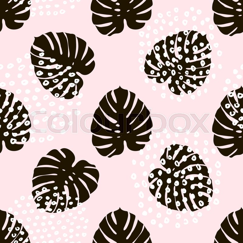 800x800 Palm Branch Trendy Seamless Pattern With Hand Drawn Elements