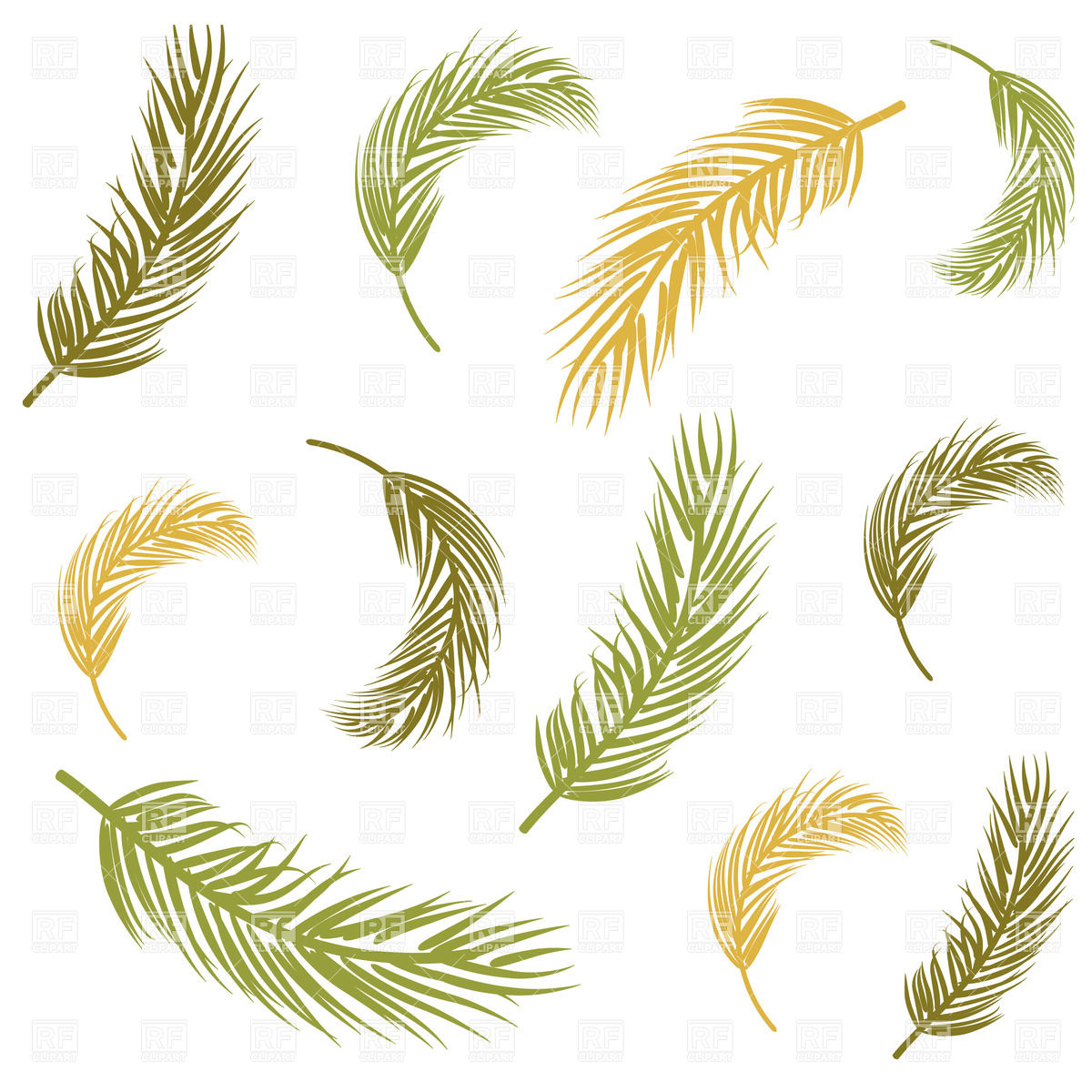 1200x1200 Seamless Background With Palm Leaves Vector Image Vector Artwork