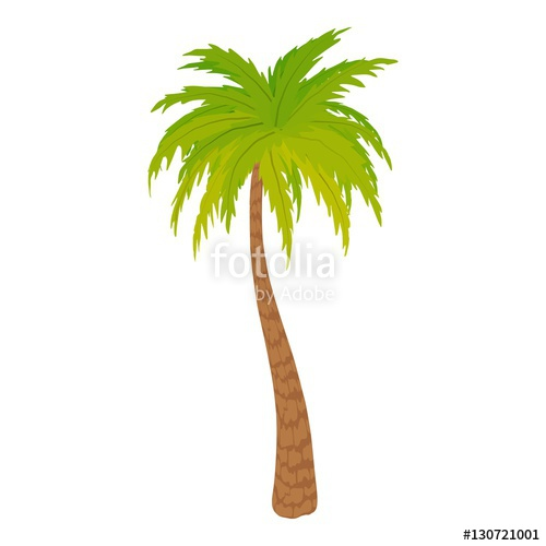 500x500 High Palm Tree Icon. Cartoon Illustration Of High Palm Tree Vector