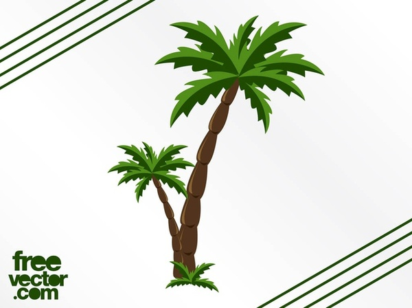 600x448 Palm Trees Free Vector 123freevectors