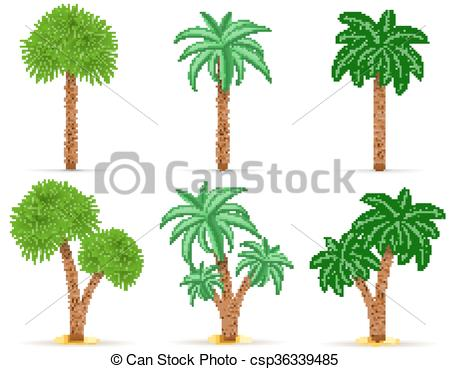 450x369 Palm Tree Vector Illustration Isolated On White Background Vector