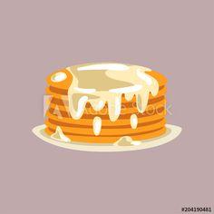 236x236 Mixed Berry Pancake Vector Illustration Pancakes In Paradise