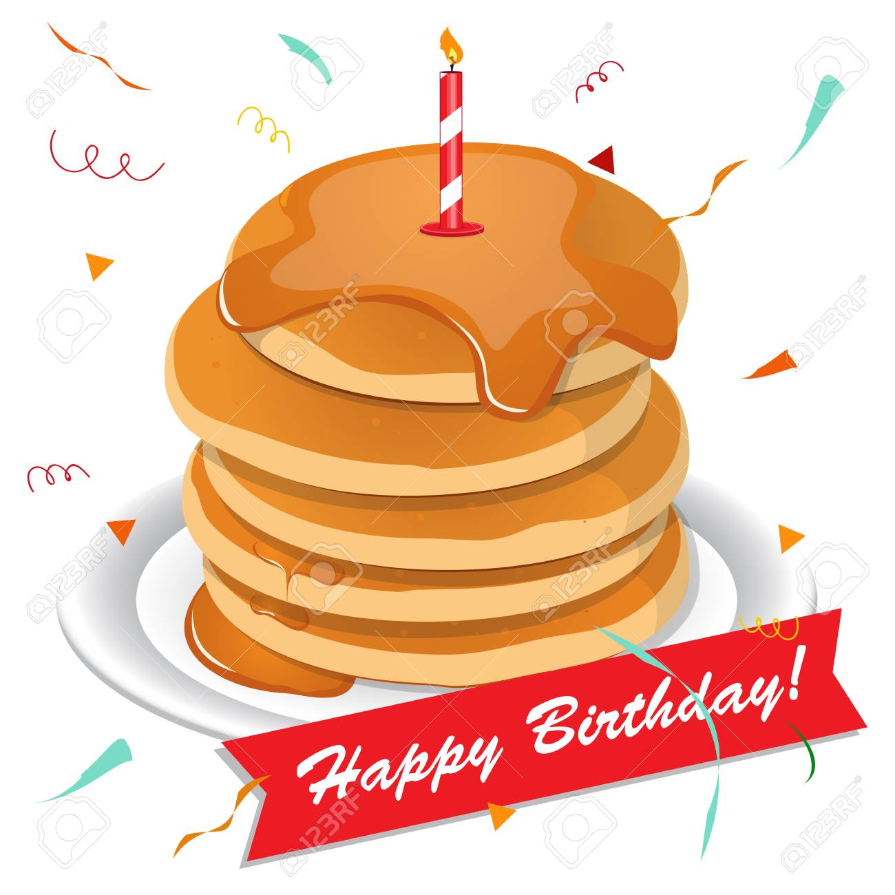 1300x1300 Pancake Clipart Birthday Cake