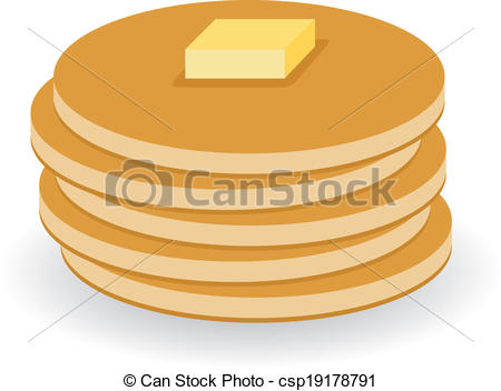 450x352 Pancake Clipart Vector