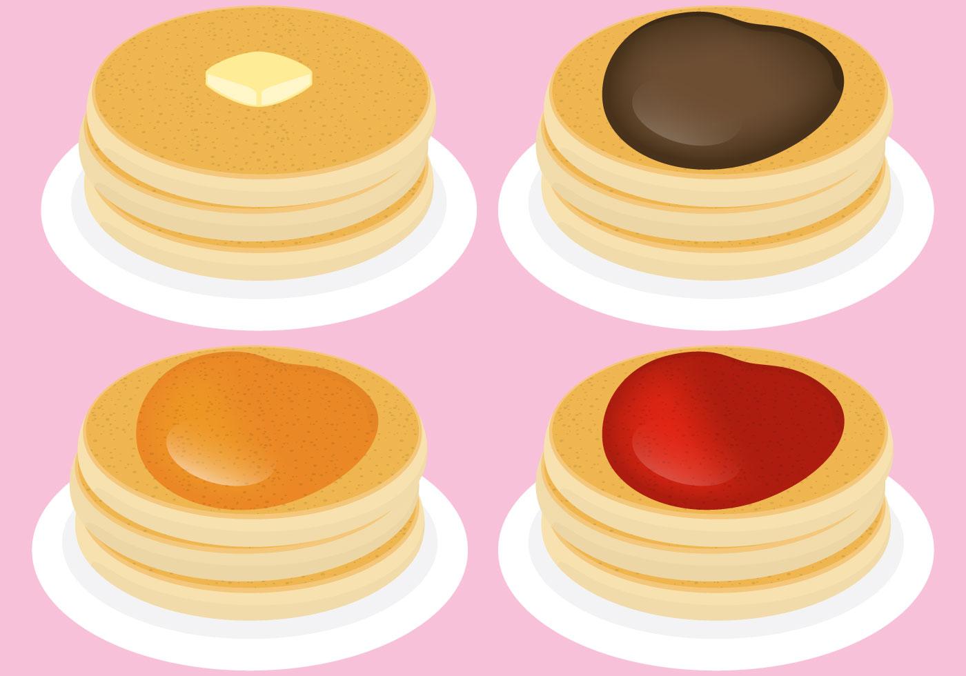 1400x980 Pancakes Free Vector Art