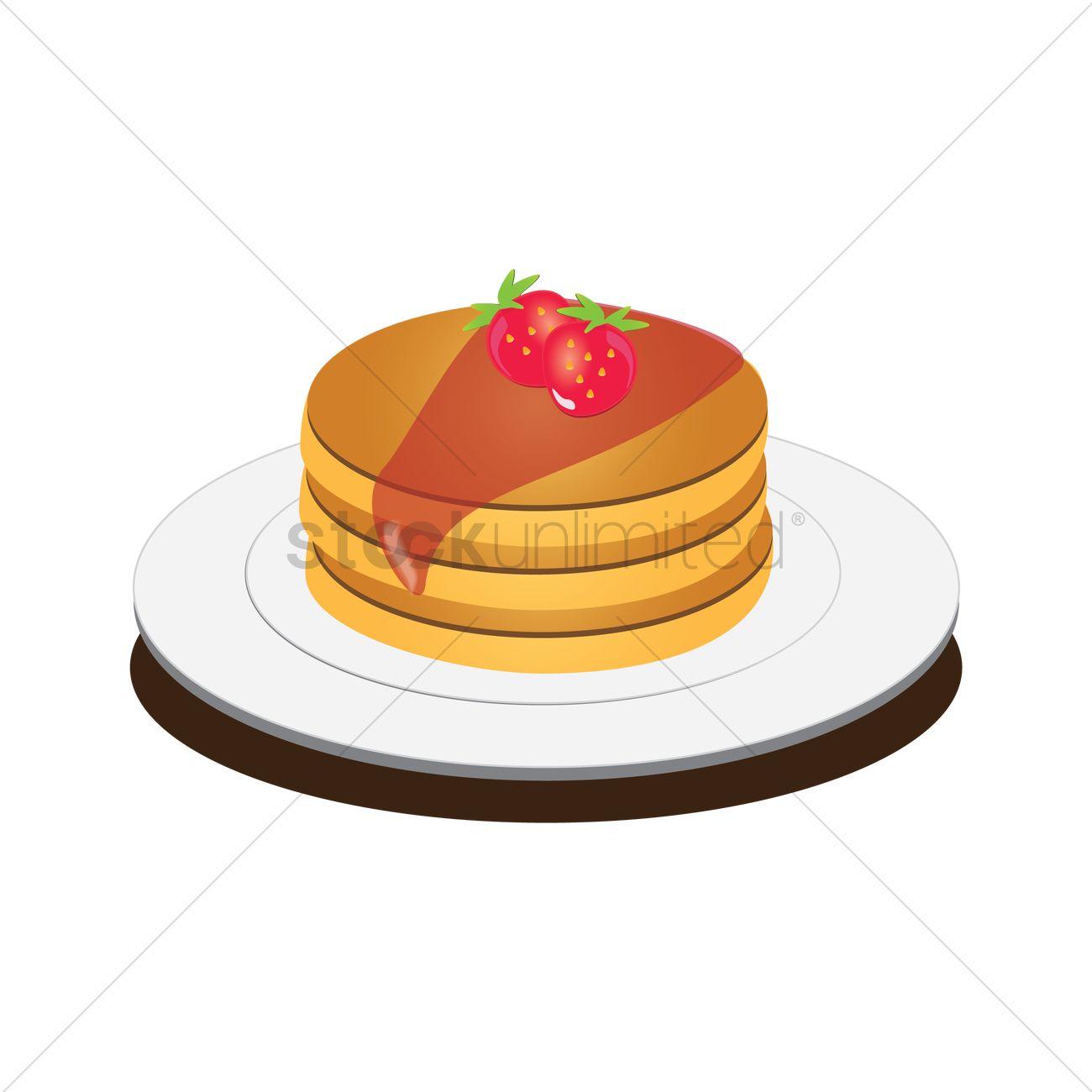 1300x1300 Free Pancake Vector Image