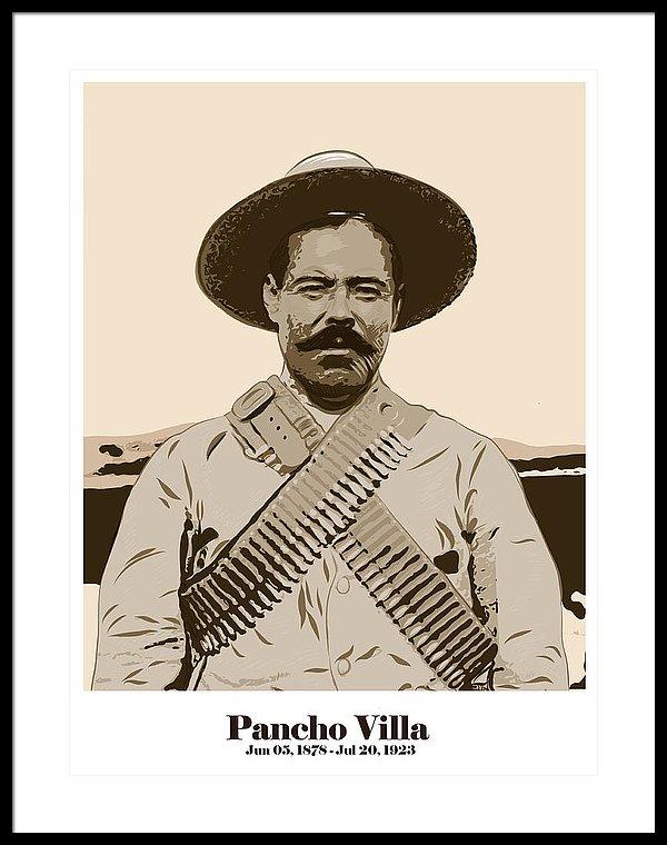 600x760 Pancho Villa Framed Print By Antonio Romero