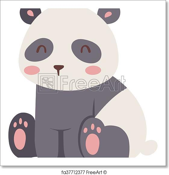 561x581 Free Art Print Of Panda Bear Vector Illustration. Panda Bear