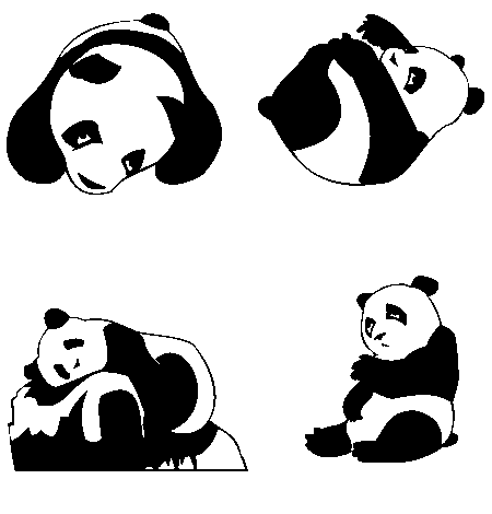 panda vector art at getdrawings com free for personal use panda