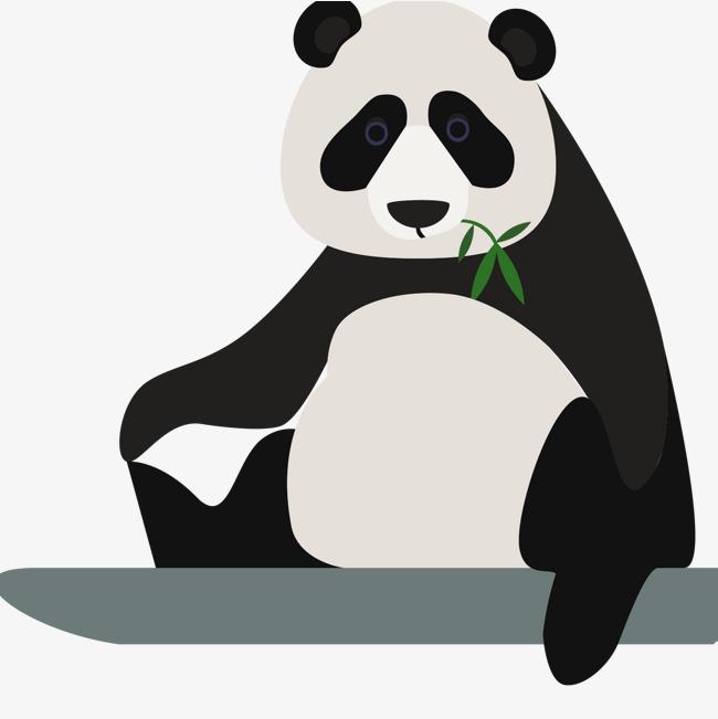 650x651 Cartoon Giant Panda Vector, Cartoon Vector, Panda Vector, Cute