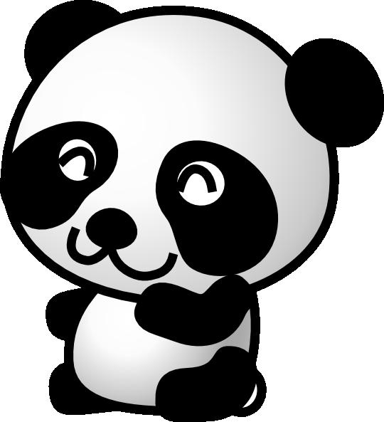 540x593 Panda Cartoon Panda 7 Clip Art