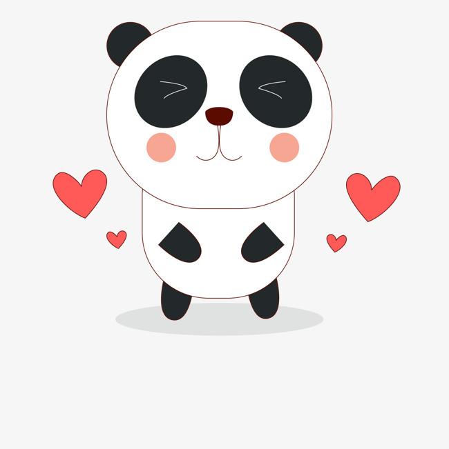 650x651 Cute Cartoon Panda Vector, Cartoon Vector, Panda Vector, Hand