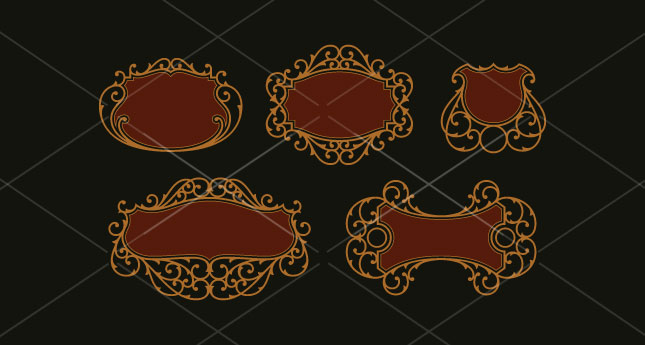 645x345 Vectorious Ornate Panel Vector Pack By Jason Carne