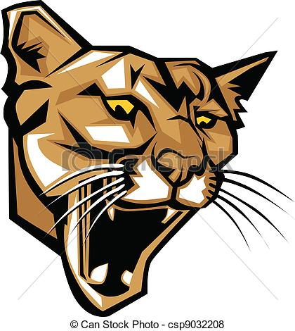 420x470 Cougar Panther Mascot Head Vector . Graphic Vector Mascot Image Of