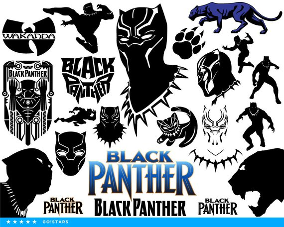 570x456 Black Panther Svg Black Panther Clipart Silhouette Black Etsy